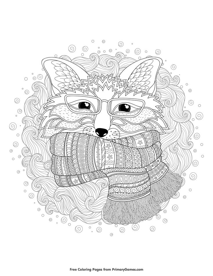Winter Fox Coloring Page Free Printable Ebook Fox Coloring Page Animal Coloring Pages Coloring Pages Winter