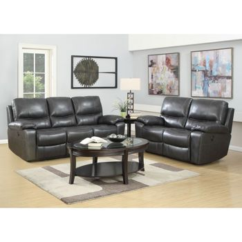 Leland 2-Piece Top Grain Italian Leather Power-Reclining Set  sc 1 st  Pinterest : top grain leather power reclining sofa - islam-shia.org