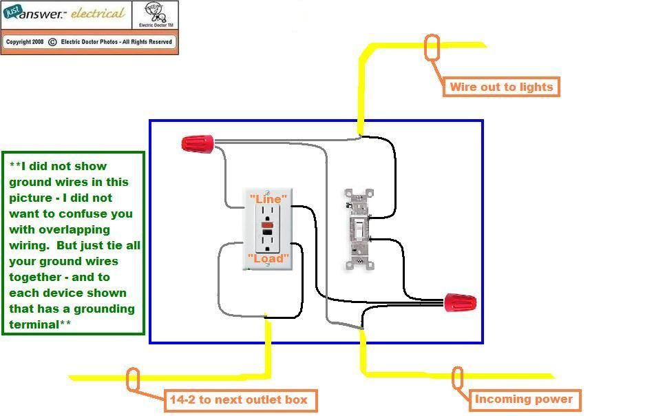 Gfci Wiring Diagram With Switch GFCI Receptacle WiringDiagram – Installing A Light Switch Wiring Diagram