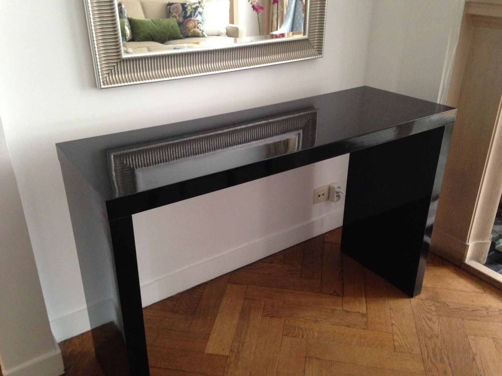 How to make a sofa table out of floor boards - Ikea Furniture F Composite Board Laminate Finish Sand Assembling Sand Bumps Dust Off