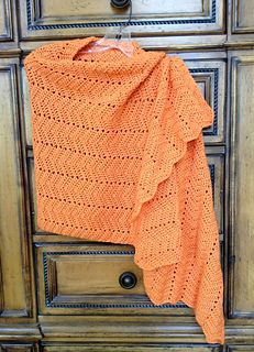 Very Easy Ripple Shawl (Crochet) pattern by Lion Brand Yarn