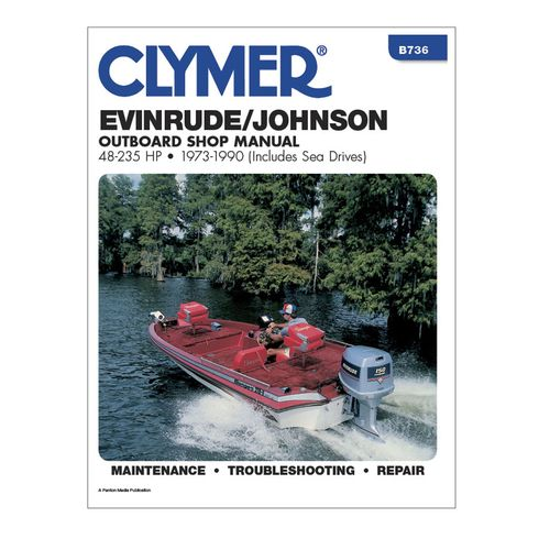 Clymer Evinrude Johnson 48 235 Hp Outboards Includes Sea Drives 1973 1990 Clymer Outboard Repair