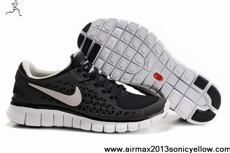 Find this Pin and more on Nike Air Max Shoes. Authentic Mens Black White  Nike Free Run ...