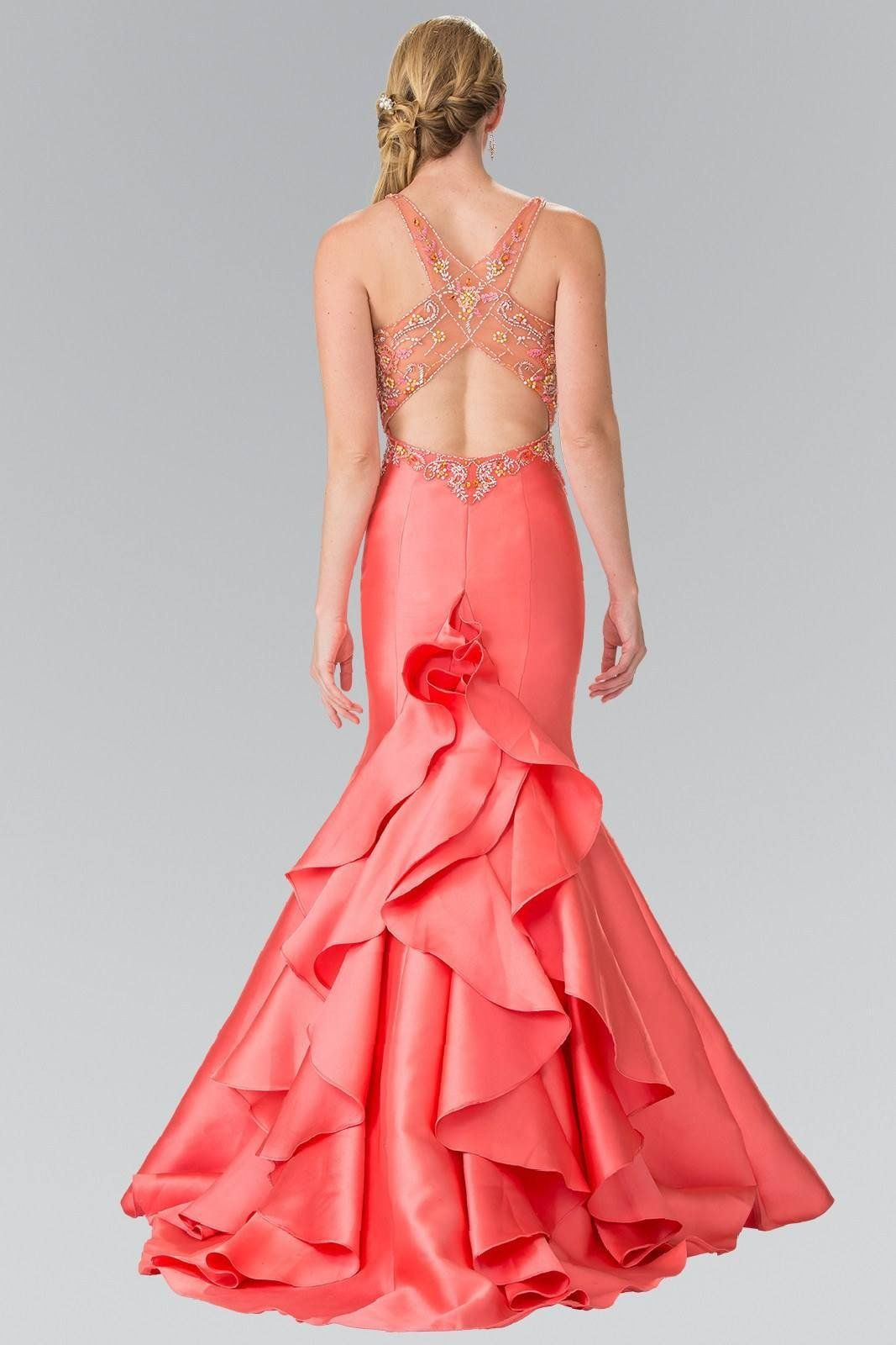 Mermaid style prom dress with ruffles gl products pinterest