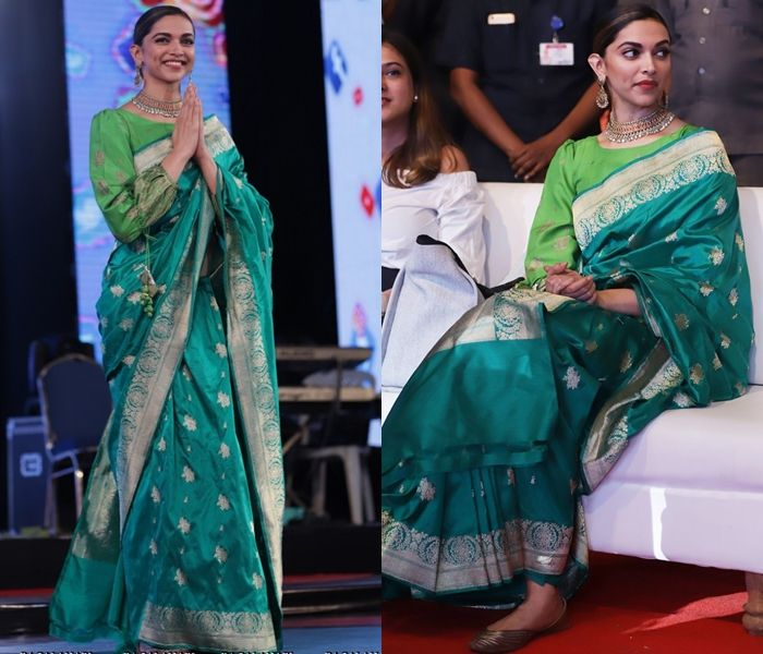 Here is an Unexpected Way to Style Green Silk Saree | Soft ...