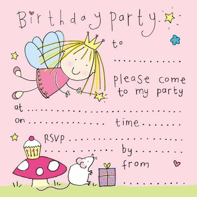 Printable Birthday Party Cards  Invitations For Kids To Make