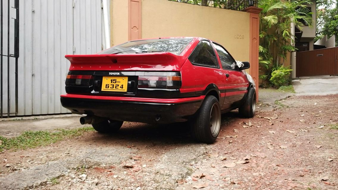 Toyota Ae85 In Srilanka Drift Cars Jdm Cars Stock Car