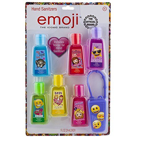 Townley Girl Emoji Hand Sanitizer For Kids With Carrying Case