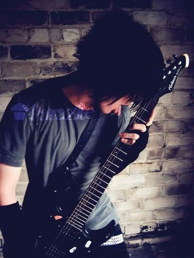 Emo Boy With Guitar