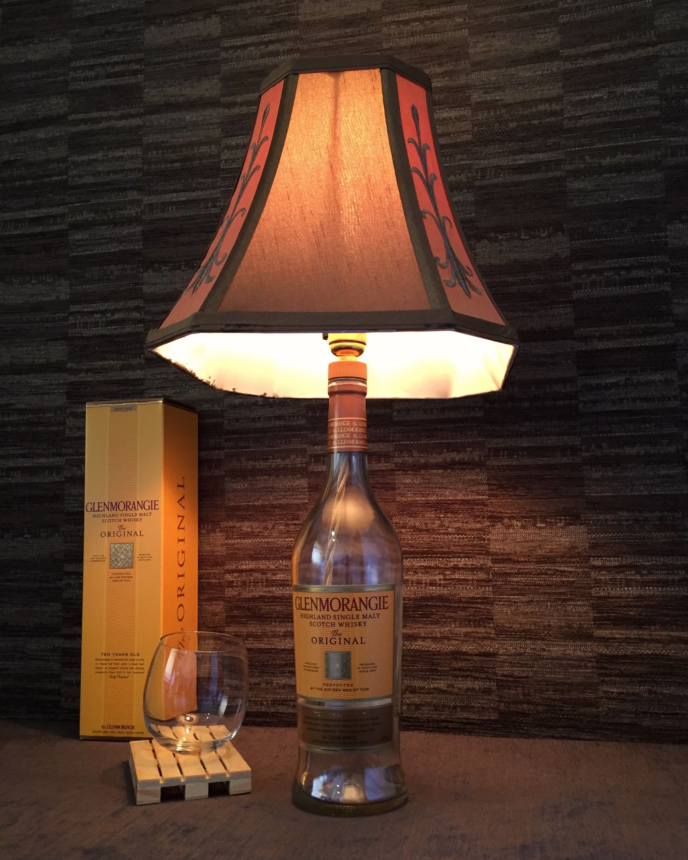 Glass Jar Lamp Shade Pin By Tom Devlin On Bottle Lamps Lamp Shades Bottle Whisky