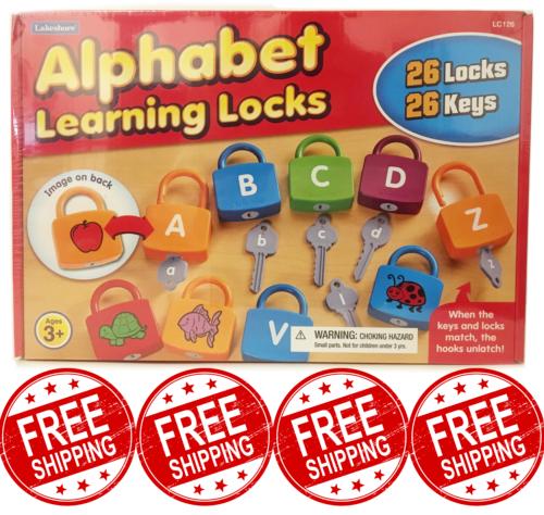 New Lakeshore Alphabet Learning Locks Educational Toy 26 ...