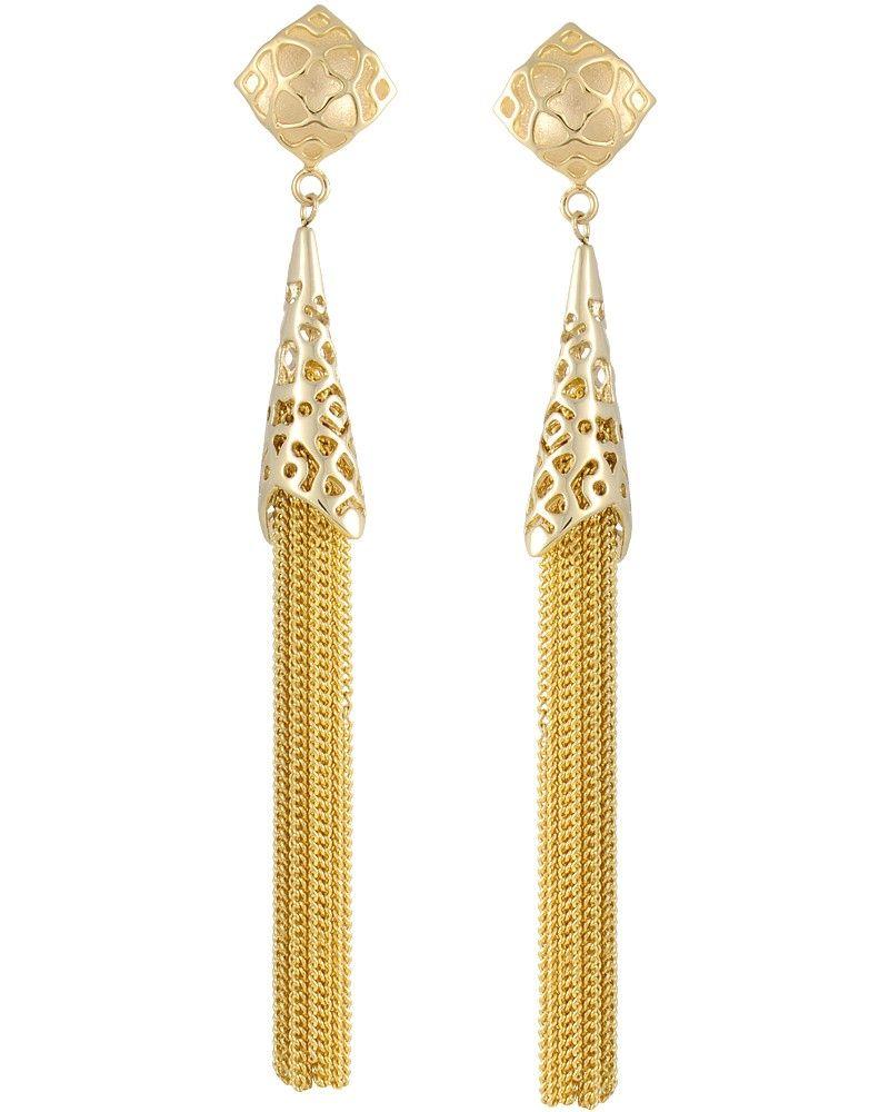 Teishya Long Earrings in Gold - Kendra Scott Jewelry ...
