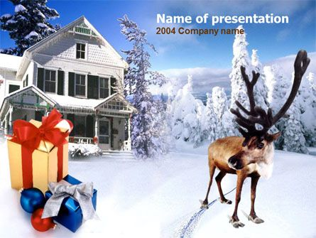 wwwpptstar/powerpoint/template/christmas-deer/ Christmas - winter powerpoint template
