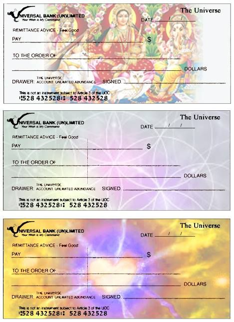 Write Yourself A Cheque Check From The Universe Of Abundance Chakra Affirmations Attraction Facts Writing Checks