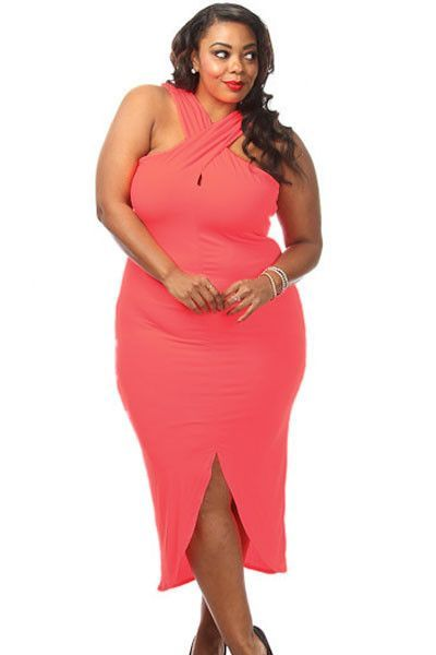 Robe grande taille rose pas cher