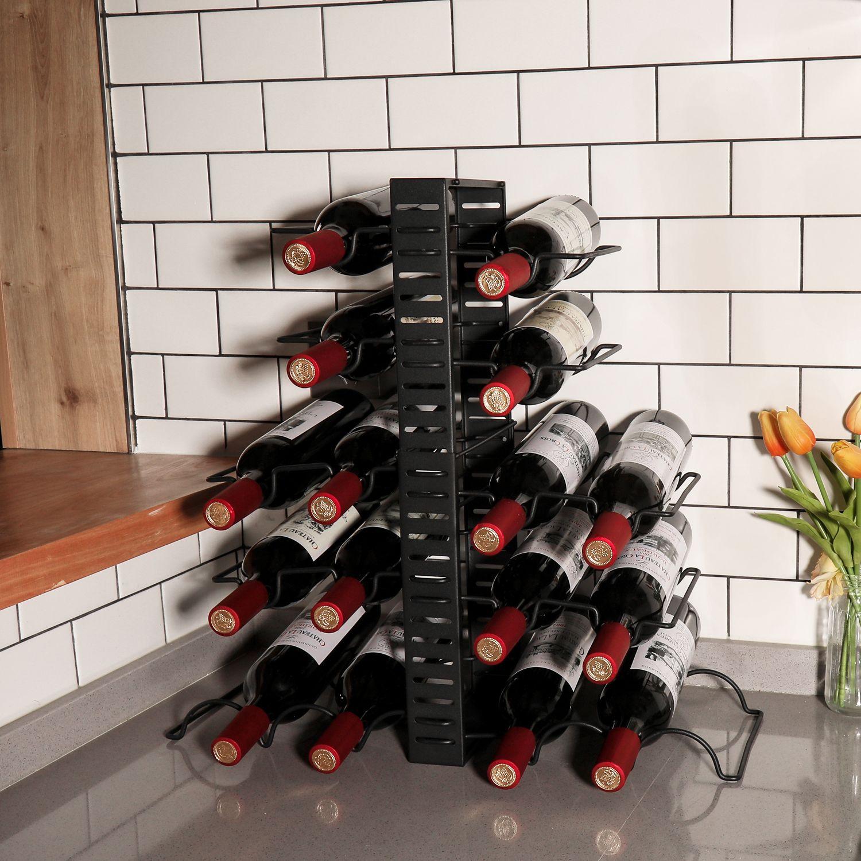 X Cosrack Adjustable Wine Rack 16 Bottles Free Standing Wine