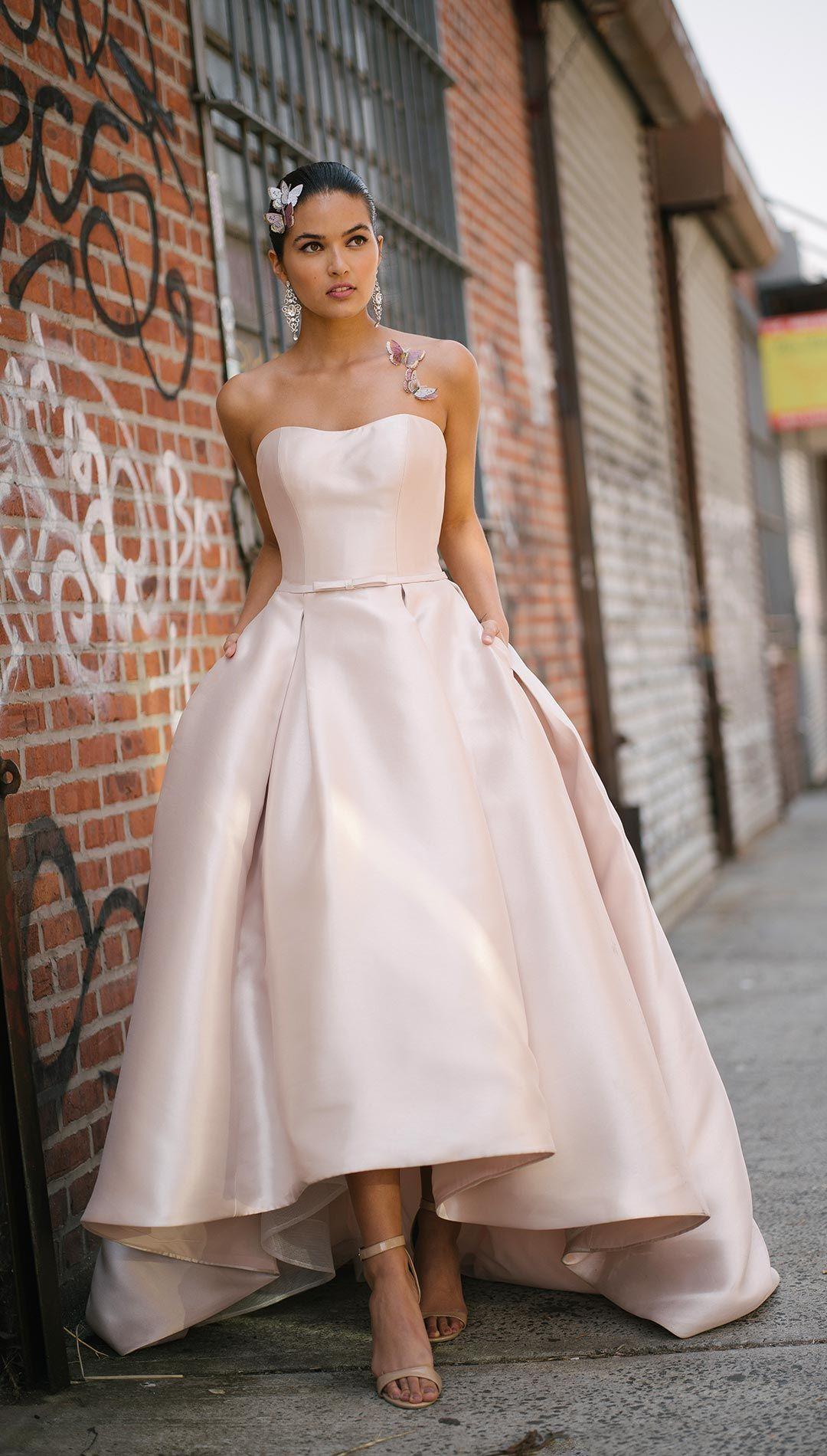 Erica By Rebecca Ingram Wedding Dresses And Accessories Wedding Dresses High Low Best Wedding Dresses Wedding Dresses Strapless [ 1900 x 1080 Pixel ]
