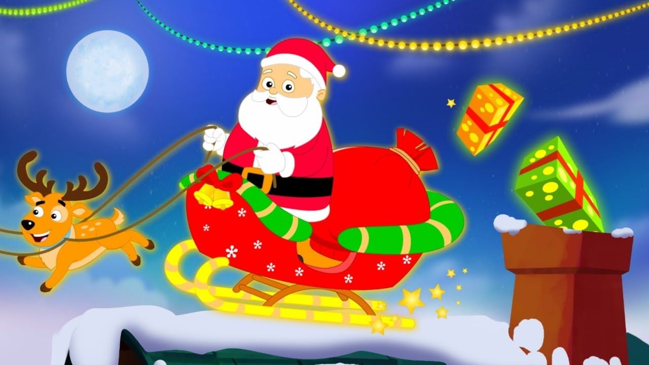 Santa Down The Chimney | Christmas Song | Kids Shows | Cartoon Video ...