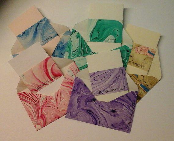 Envelope and Letter Set by chronospaper on Etsy