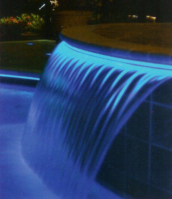 Hot Tub Amp Swimming Pool With Waterfall Amp Fiber Optic