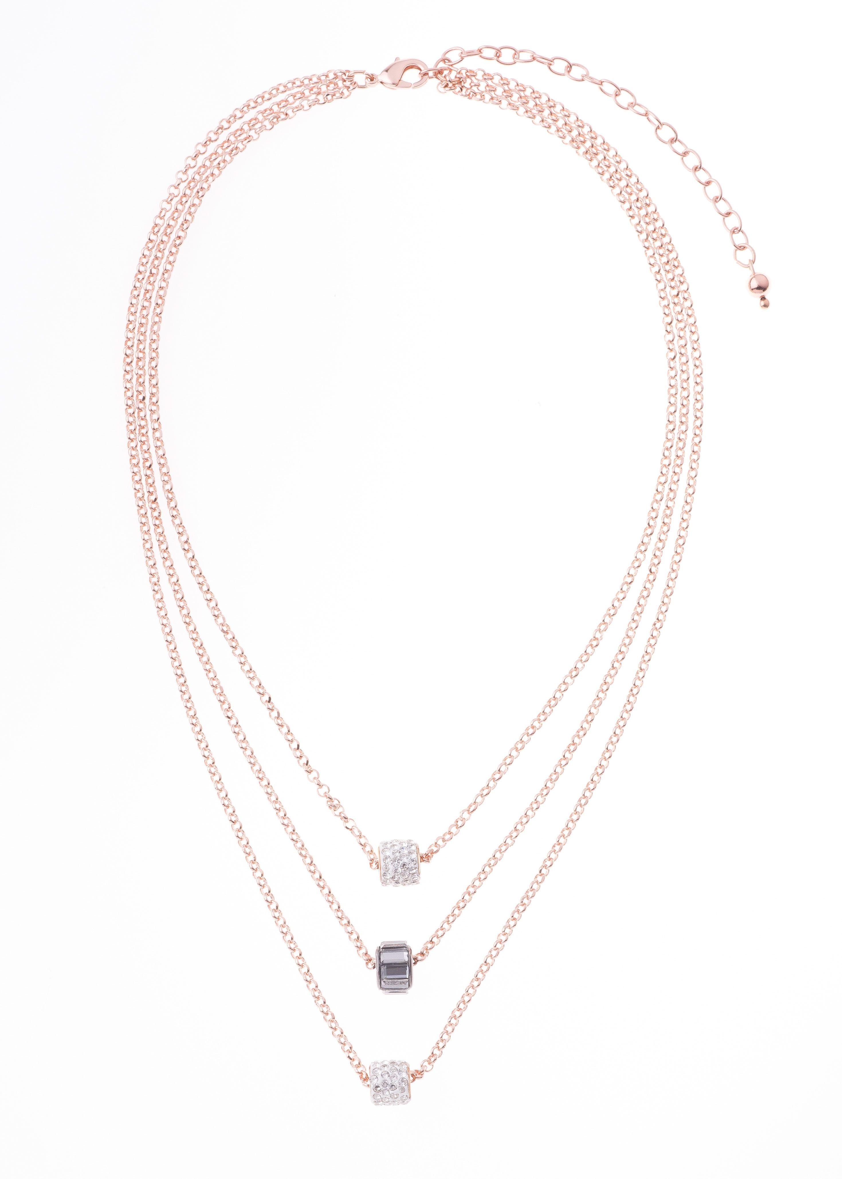 Collar De 40cm De Largo Y 10cm De Extension En Bano De Oro Rosa