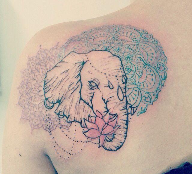 Elephant Indian Lotus Mandala Tattoo Elephant Tattoo Meaning Elephant Tattoo Design Elephant Tattoos