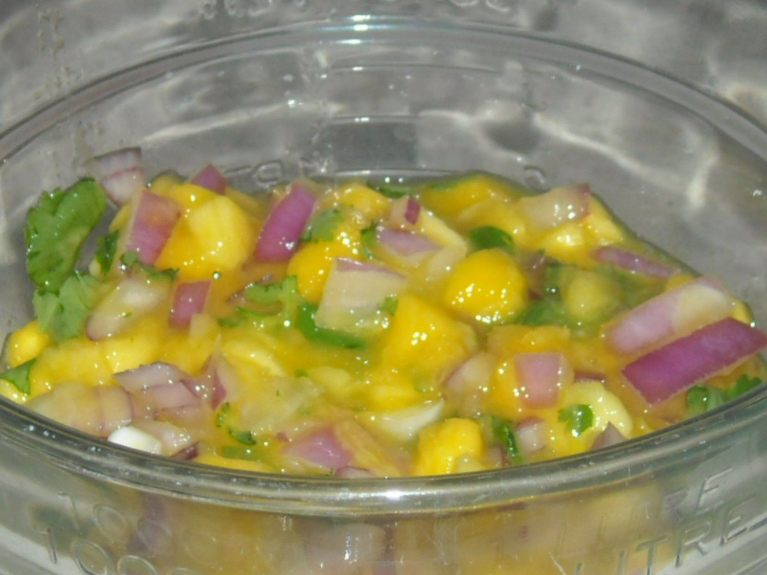Mangos are a really sweet and refreshing fruit. They are also usually available at a reasonable price year round. Serve on top of grilled chicken or fish. It's also great as a snack with t…
