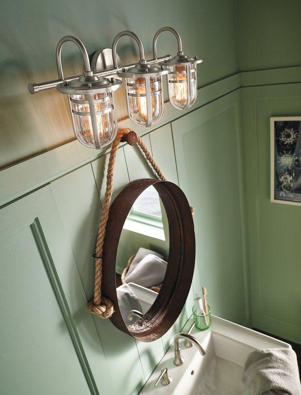 Mullin Wall Mount 3-Light Vanity Light | Bathroom design ...