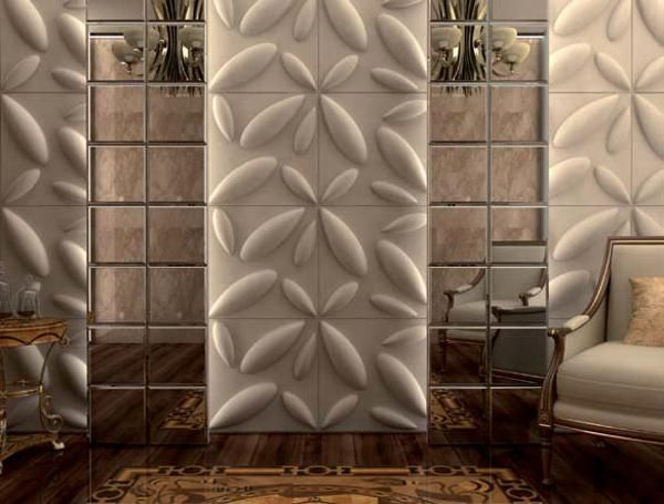 Decorative Wall Tiles Carved Wood Wall Paneling For Contemporary Room Decorating