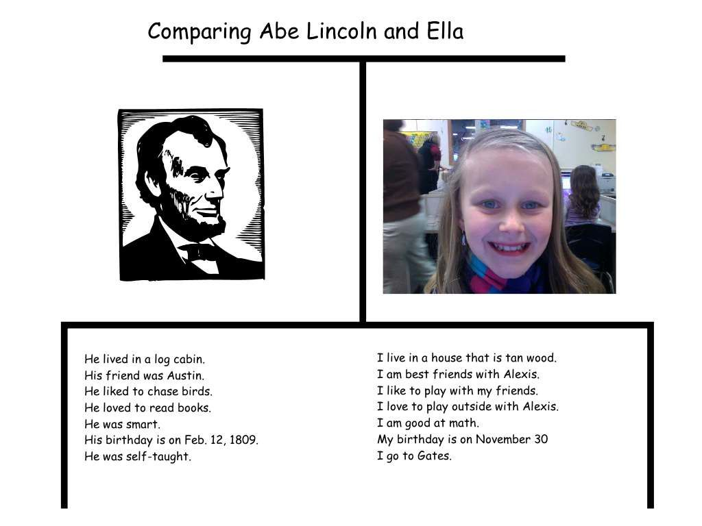 Kinder Study On Abe Lincoln