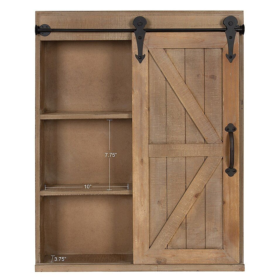 Kate And Laurel Cates Storage Cabinet And Vanity Bed Bath Beyond In 2020 Farmhouse Storage Cabinets Barn Door Furniture Small Rustic Bathrooms
