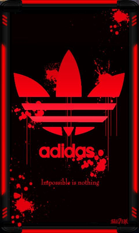 Adidas Logo Red Original HD Wallpapers for iPhone is a
