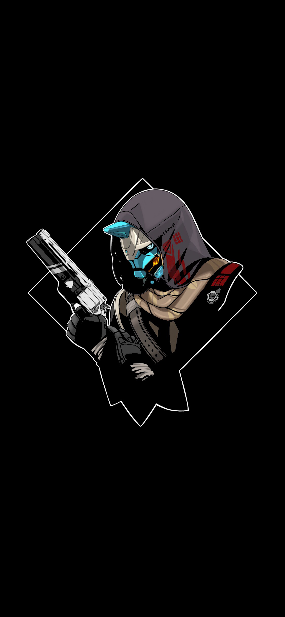 1125x2436 Cayde 6 W Oledify Com Submitted By Egotisticpain To R Amoledbackgrounds 0 Comments Original Destiny Game Destiny Backgrounds Destiny Hunter