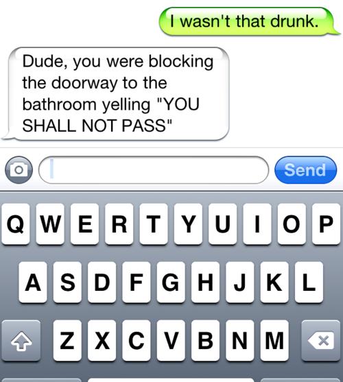 Dude I Wasn't That Drunk