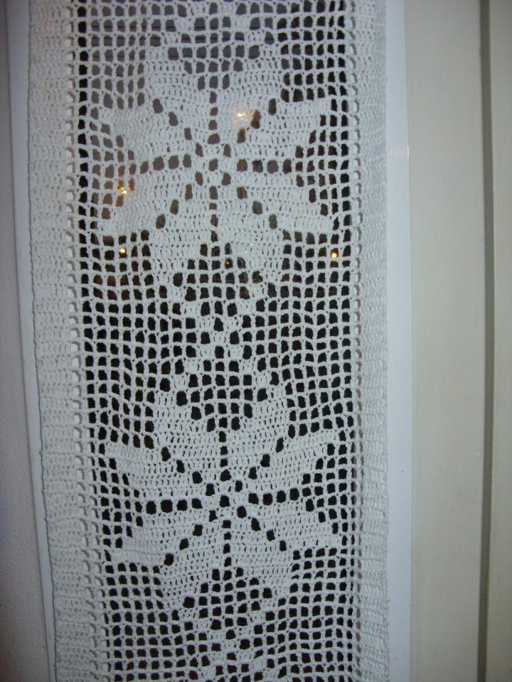 Cortina o visillo tejida al crochet 290 00 en for Cortinas visillo modernas