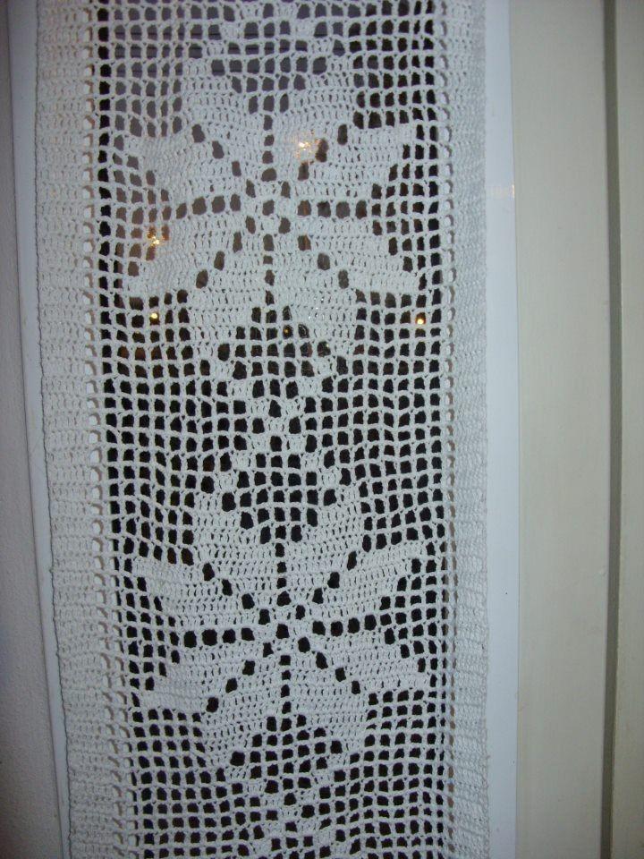 Visillos en crochet buscar con google crochet - Cortinas el visillo ...