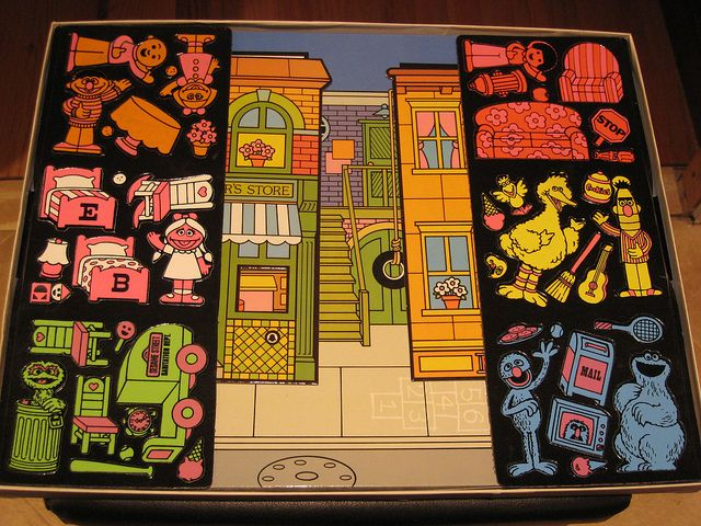 Sesame Street Colorforms Oldschool Fun Childhood Memories Sweet
