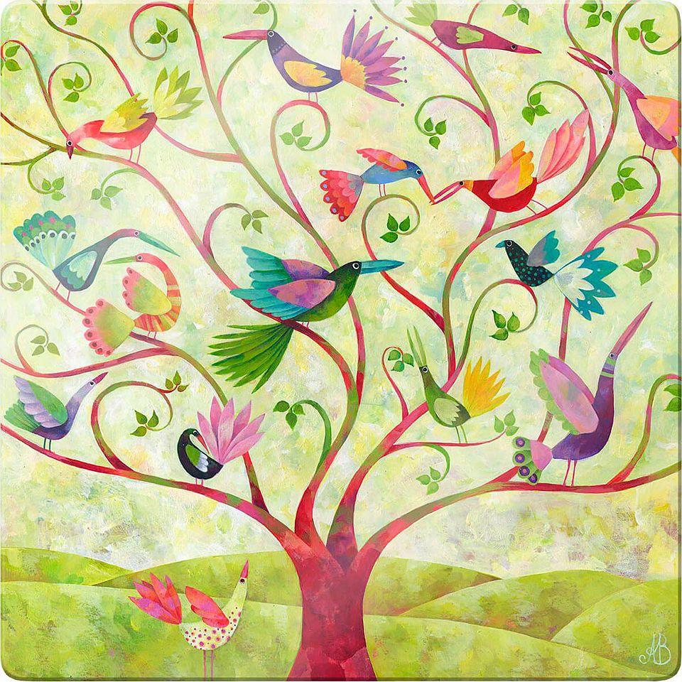 Glasbild »Blanz - Exotische Vögel«, 30/30 cm Jetzt bestellen unter ...
