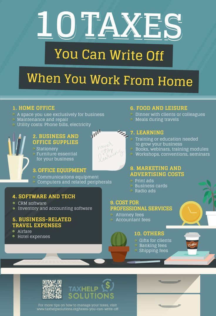 Taxes You Can Write Off When You Work From Home | 10 #WorkFromHome Deductible #Taxes
