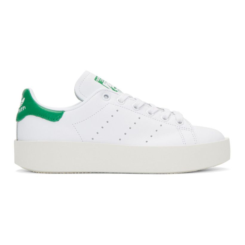 adidas Originals White Stan Smith Bold Sneakers Schoenen