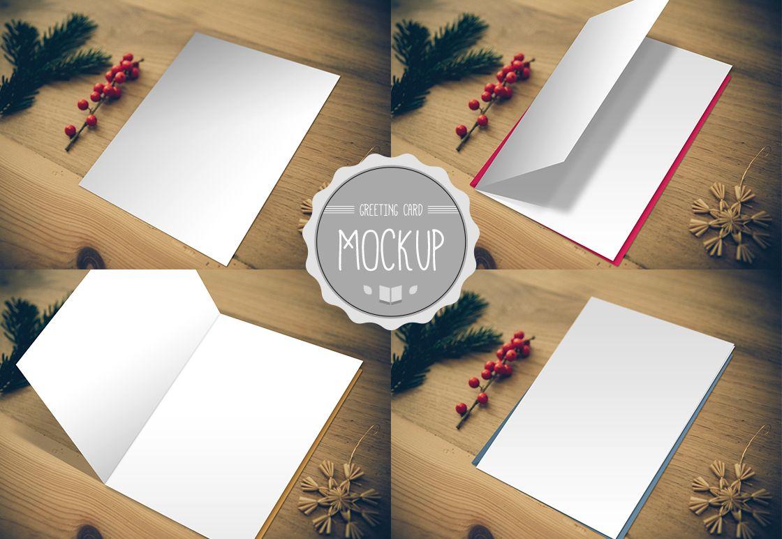 Greeting Card Mockup Print Design Pinterest Mockup