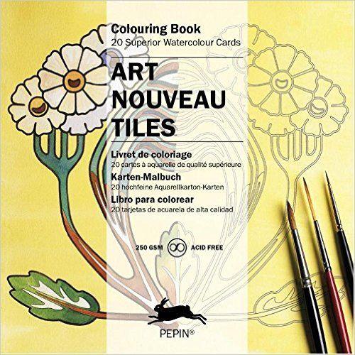 Art Nouveau Tiles: Künstler-Malbücher/Karten-Set Artists