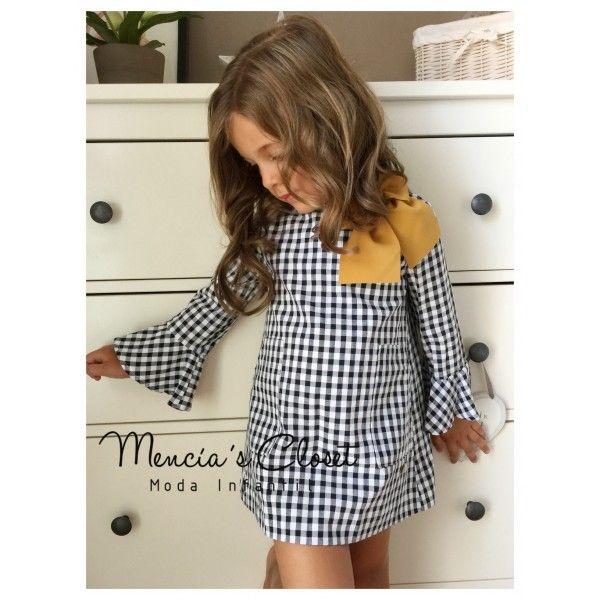 02039cff25 VESTIDO VICHY NEGRO de EVE CHILDREN - Mencia s Closet Moda Infantil ...