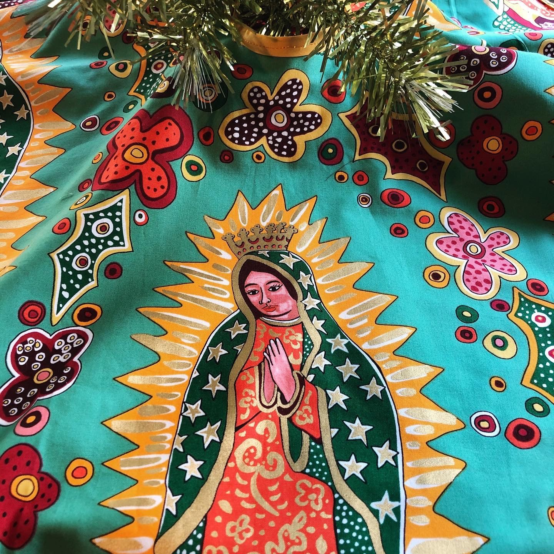 Virgin of Guadalupe Christmas Tree Skirt Small Halloween