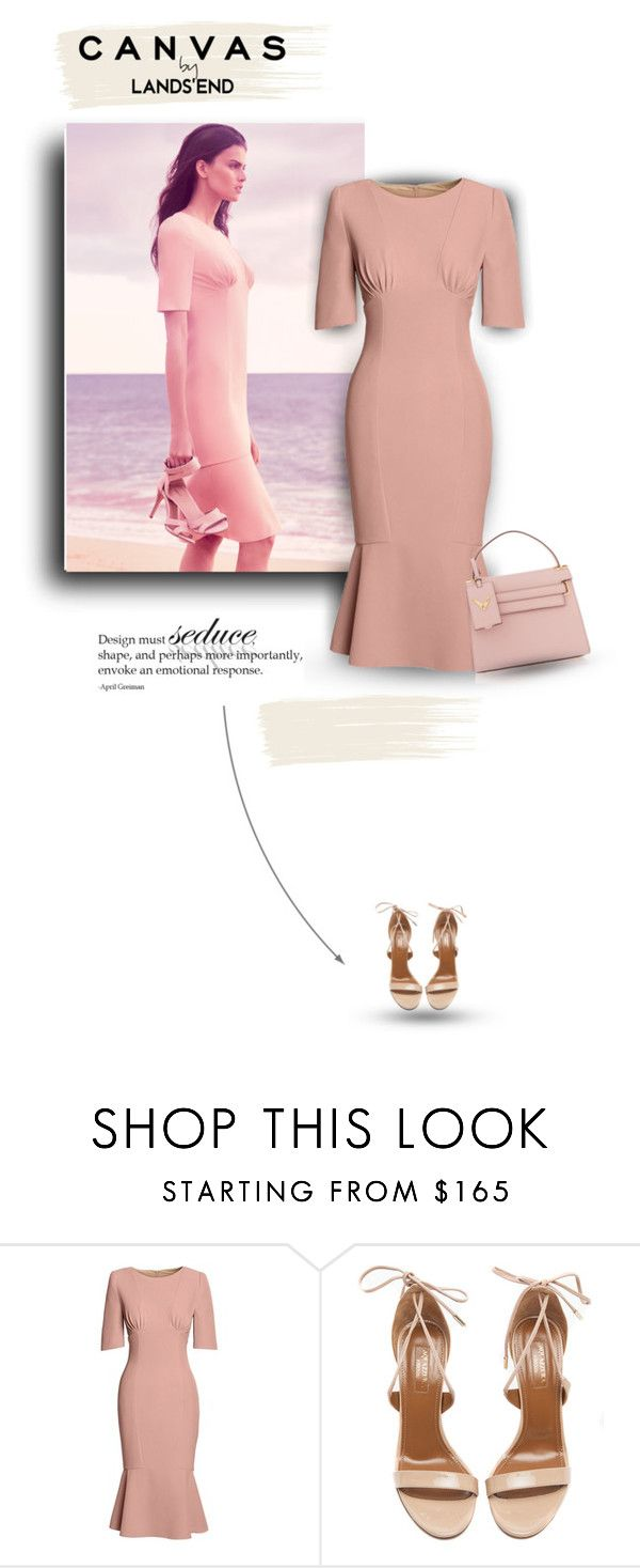 """""""Paint Your Look With Canvas by Lands' End: Contest Entry"""" by bliznec-anna ❤ liked on Polyvore featuring Lands' End, Canvas by Lands' End, Aquazzura and Valentino"""