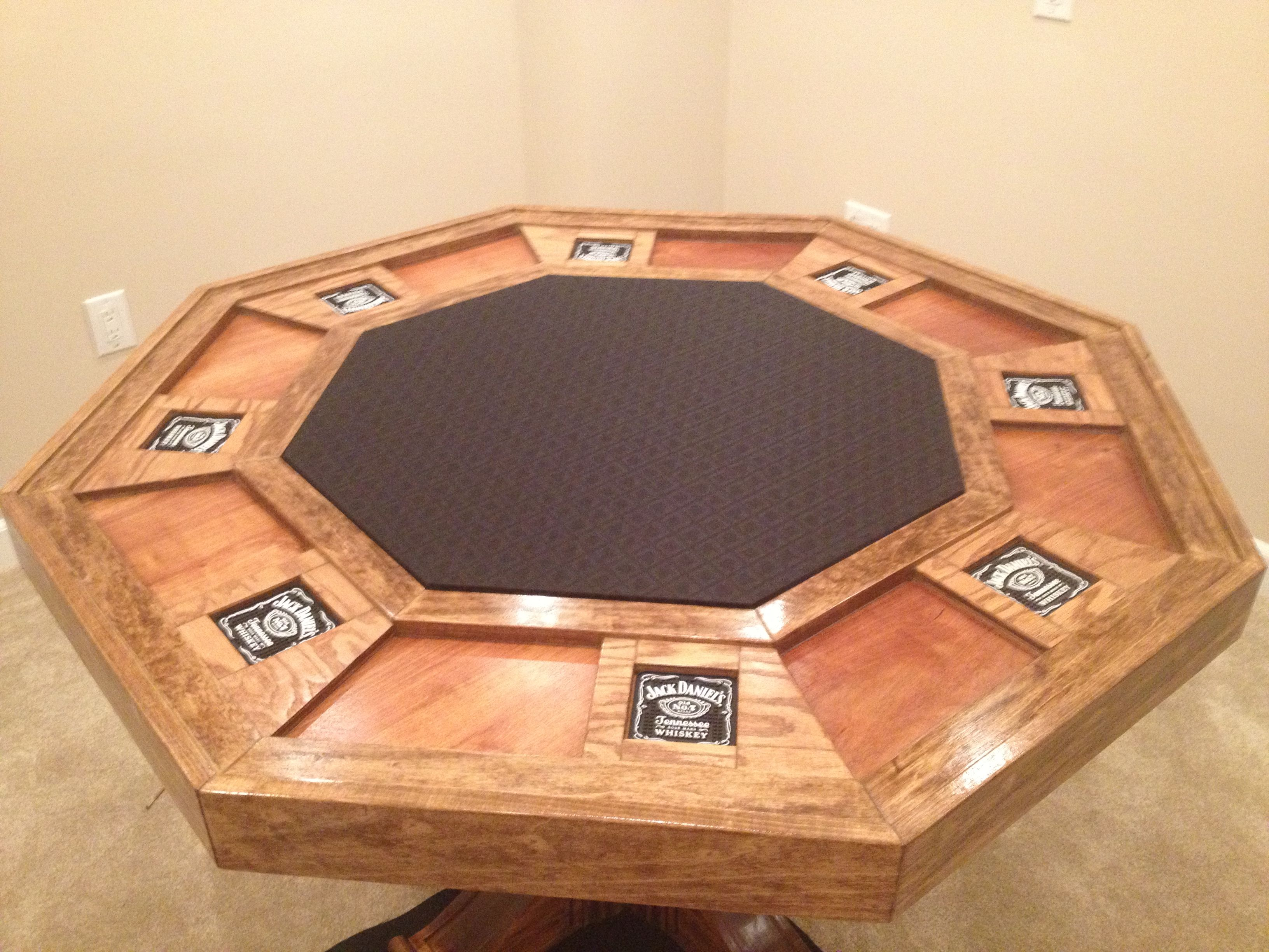 Top Of My Homemade Poker Table Poker Table Diy Poker Table Plans Custom Poker Tables