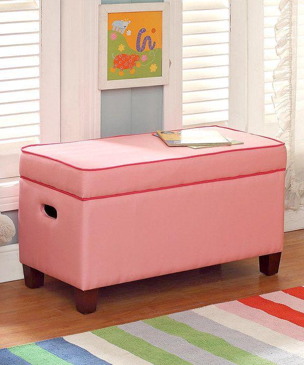 Solid Pink Storage Bench by Kinfine #zulily #zulilyfinds | Children ...