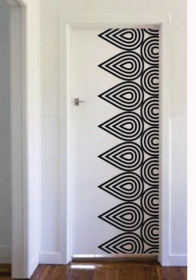 Wall Decal-something like this for closet doors. An easy ...