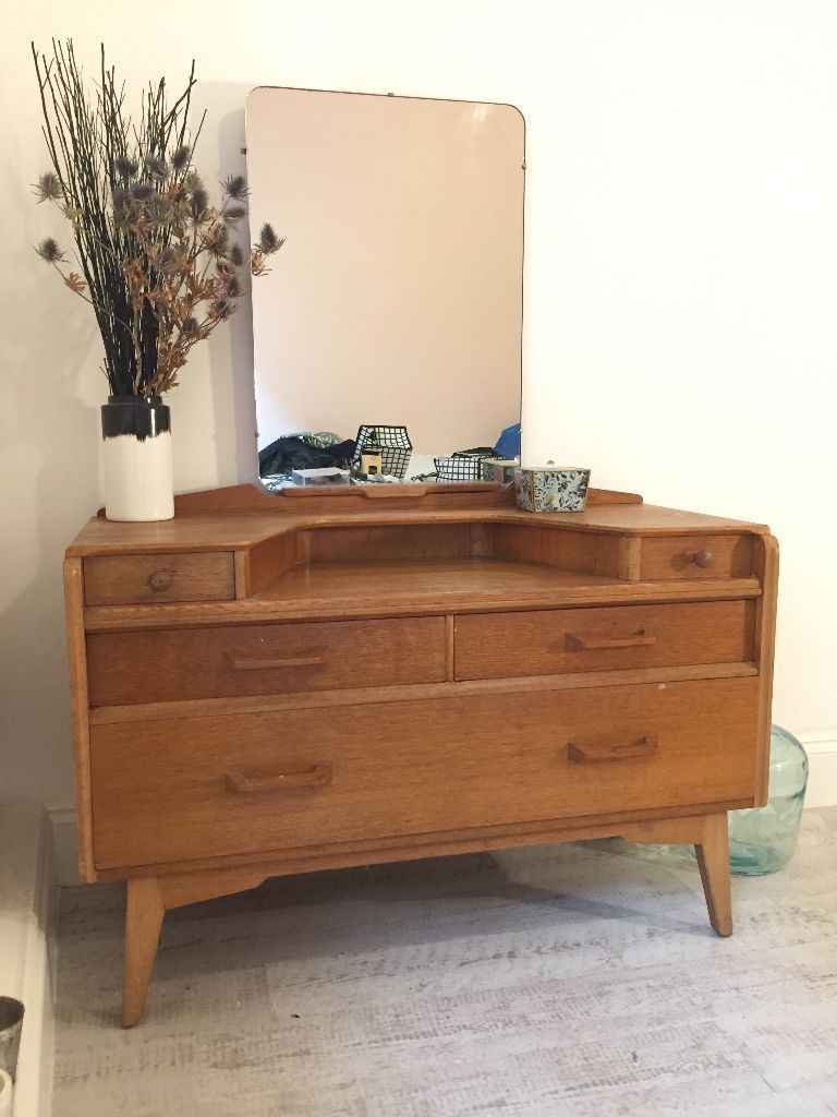 Vintage g plan dressing table with mirror midcentury us
