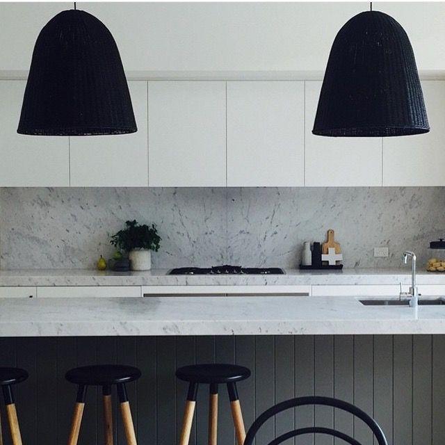 Kitchen Lighting Melbourne: Colours Cladding Under Island Bench Stone Splash Back